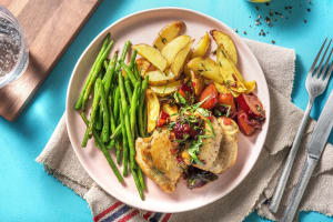Skillet Chicken with Balsamic Plums image