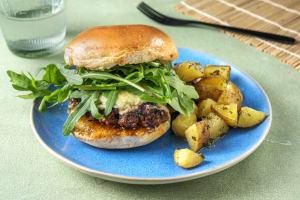 Smoked Cheddar Burgers image
