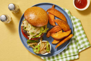 Smothered Pepper Jack Burgers image