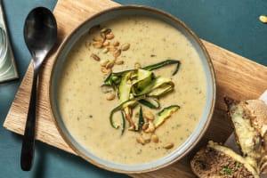 Soupe à la courgette & pesto aux champignons image