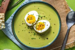 Soupe de brocoli & tartines de ricotta, miel et pistaches image