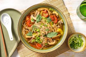 Soupe de nouilles soba aux champignons image