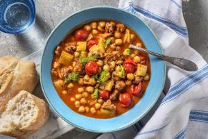 Soupe de tomates cerises à la viande et au fenouil image