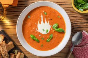 Geroosterde tomaat-paprikasoep image