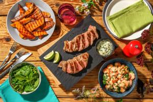 Southwest-Style Grilled Steak and Shrimp image