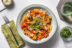 Spaghetti med rostade grönsaker image