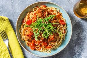 Spaghetti mit Hackbällchen image