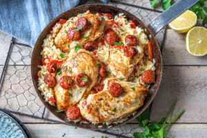 Spanish One-Pan Chicken image