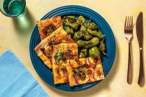 Spanish-Style Flammkuchen mit Chorizo image