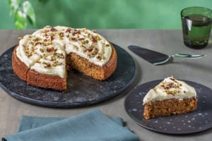 Spiced Carrot & Nut Cake with Orange Cream Cheese Icing image