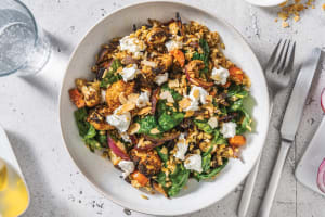 Spiced Cauliflower, Freekeh & Goat Cheese Salad with Toasted Almonds image
