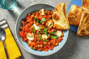 Spiced Chickpea and Spinach Stew image