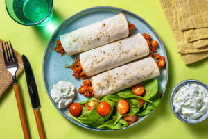 Spiced Chickpea Wraps image