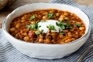 Spiced Moroccan Lentil and Chickpea Soup image