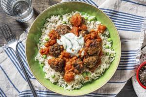 Spicy Beef Meatball Vindaloo image