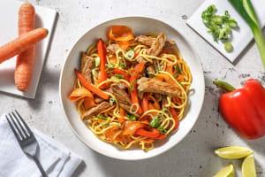 Spicy Szechuan Beef Stir-Fry Noodles image