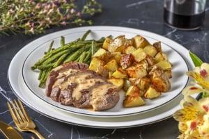Steak and Peppercorn Sauce image