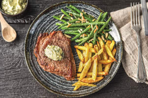 Seared Steak and Homemade Chips image