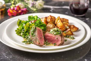 Fillet Steak with Bearnaise Butter and Roasties image