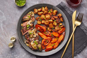 Steak with Mushroom Cream Sauce image