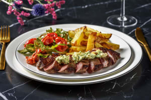 Sirloin Steak with Roasted Garlic & Parsley Butter image