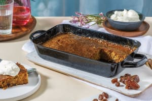 Sticky Date Pudding with Caramel Sauce & Cream image