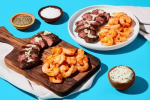 Succulent Shrimp, Steak & Garlic Herb Butter image
