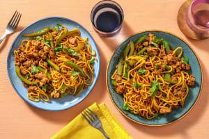 Superfast Asian-Spiced Pork Noodles image