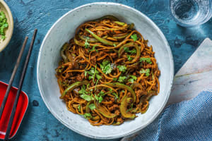 Superfast Asian-Spiced Pork Noodles image