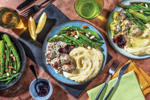 Swedish-Style Pork Meatballs & Creamy Bacon-Dill Sauce image