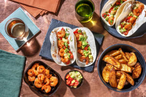 Spiced King Prawn Tacos with Pineapple & Avocado Salsa image