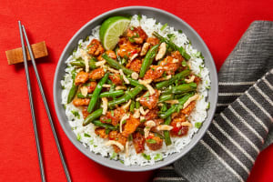 Sweet Chili Pork & Green Bean Bowls image