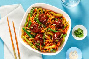 Sweet Chili & Soy-Glazed Meatballs image