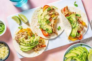 Tacos au poulet & légumes sautés image
