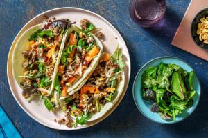 Chinese Garlic Beef Tacos image