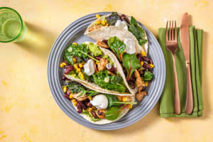 Tacos mit Hähnchen, Mais und Bohnen image