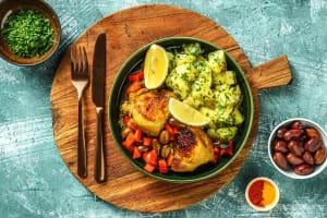Tajine de poulet aux olives & poivron rouge image