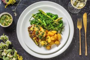 Tandoori Sea Bream and Turmeric Roast Potatoes image
