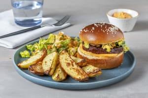Teriyaki-Burger mit Sriracha-Dip image
