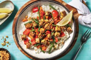 Teriyaki & Sesame Tofu with Garlic-Ginger Rice - Cook Now! image
