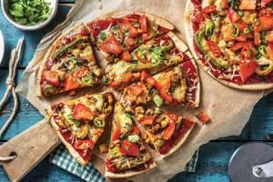 Tex-Mex Corn & Capsicum Pizza image