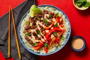 Thai Basil Beef Bowls image