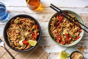 Thai-Inspired Veggie Noodle Stir Fry image