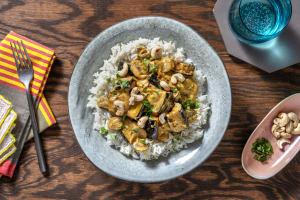 Thai Massaman Style Aubergine and Mushroom Curry image