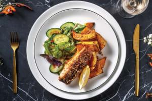 Thai Spiced Salmon & Roast Pumpkin Wedges image