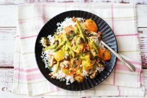 Thailändisches Massaman-Curry mit Ofen-Gemüse image