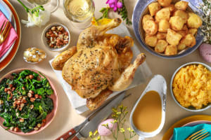 Thyme Roasted Chicken and Gravy image