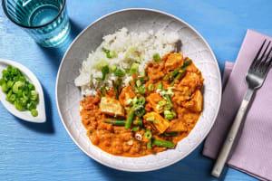 Tikka-Masala-Curry mit Halloumi image