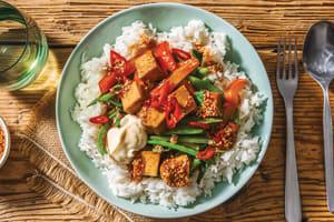 Chinese Tofu & Garlic-Ginger Rice Bowl image