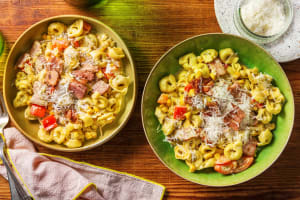 Creamy Basil Pesto Cheese Tortellini Pasta image